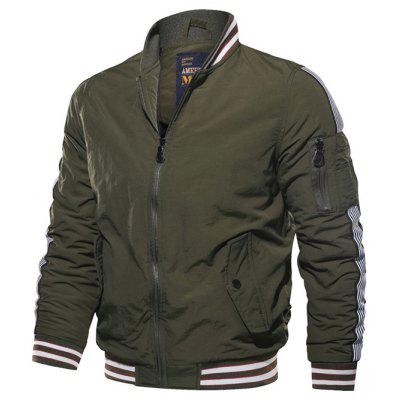 Winter Leisure Stand Collar Flight Jacket