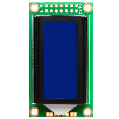 LDTR-WG0239 1.7 Inch LCD Screen 0802B 8 x 2 Blue Character Module For Arduino
