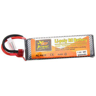 ZOP Power 2S 7.4V 6000mAh 25C Lipo Battery T Plug