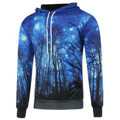 Blue Starry Tree Hooded Hoodie