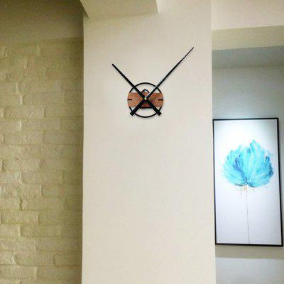Simple Extra Large Pointer Wood Solid Creative Clock Watch DIY Clock