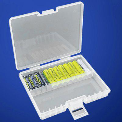 Battery Storage Protection Box Transparent Green Plastic Durable