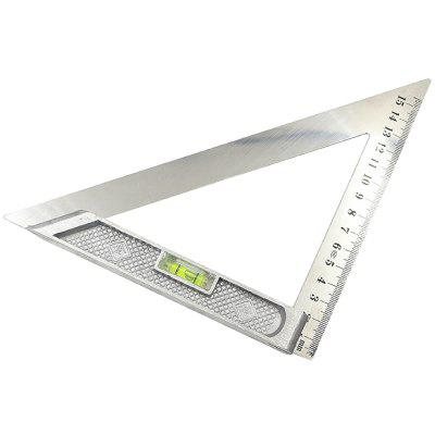 Horizontal 45 Degree Steel Square Ruler