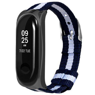 Pouzdro Shell Striped Canvas Strap pro Xiaomi Mi Band 3
