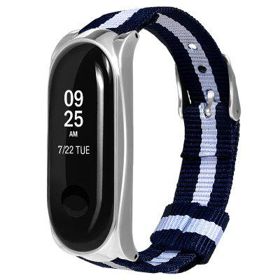 Buckle Shell Striped vászon Strap a Xiaomi Mi Band 3-hoz