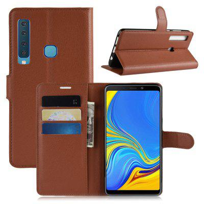 Naxtop Lychee Mobile Wallet Flip Full Body Protection Case For Samsung Galaxy A9 2018 / A9 Star Pro / A9S