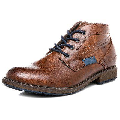 XPER Men Lace-up Boots Leisure Warm Comfortable Classic
