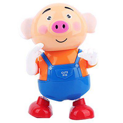 Electric Seaweed Pig Dazzling Dance Luminous Music Sprouting Pig Children Toy
