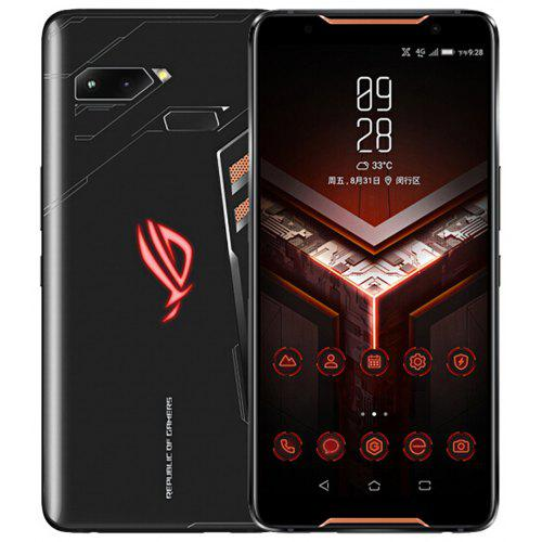 Gearbest ASUS ROG Phone 4G Phablet 8GB RAM International Version - BLACK 512GB ROM 12.0MP +8.0MP Rear Camera Fingerprint Sensor
