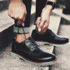 Casual Leather Men Shoes - CZARNY