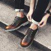 Casual Leather Men Shoes - BRąZOWY