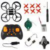 DIY Four-axis One-button Return Flight Take-off RC Airplane Toy Set - RED