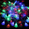Brelong Christmas Tree Pendants LED Colorful Waterproof Holiday Decoration Light String - WHITE