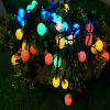 LED Colorful Waterproof Holiday Decoration Light String White Ball - WHITE