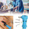Right Angle Electric Drill Converter Rotary Tool Adapter - DODGER BLUE