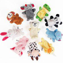 Foreldre-barn Small Animal Finger Par Puzzle Toy 10stk