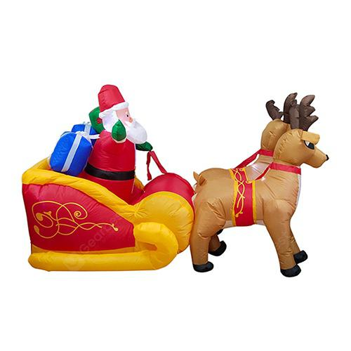 Christmas Garden Ornaments LED Elk Inflatable Model