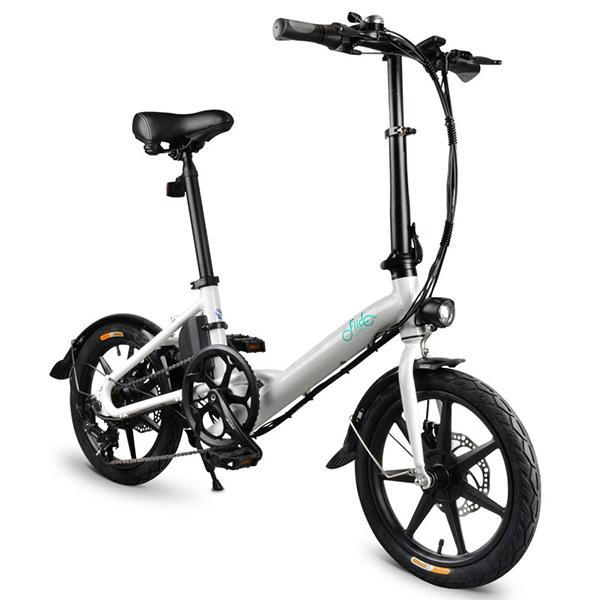 FIIDO D3 Shifting Version 16 inch Folding Electric Bike Moped Bicycle - WHITE