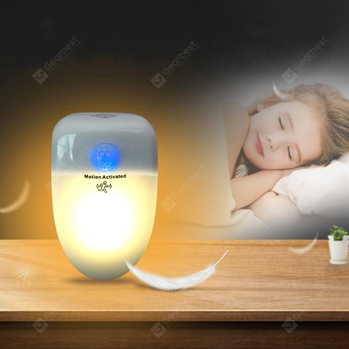 Alfawise Ai 202 Pluggable UV-C Deodorizer Sterilizer Smart PIR Night Light - WHITE