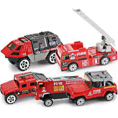 Sliding Engineering Fire Protection Set Alloy Model Toy Car