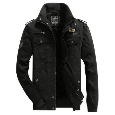 Men Comfortable Jacket Leisure Warm Stand Collar