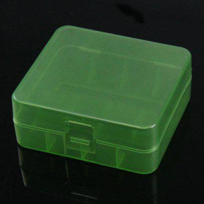 Transparent Plastic 2 Section 26650 / 3 Section 18650 Battery Storage Box 2pcs
