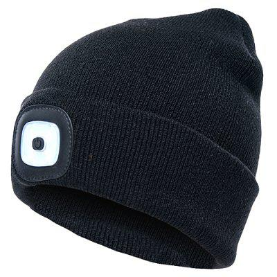 Comfortable Knitted Hat with Lights LED Cap