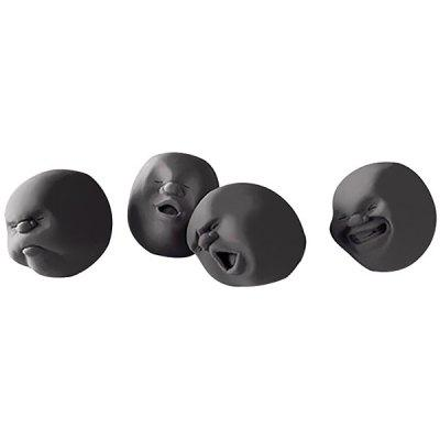 Decompression Toys Set Human Face Doll Venting Ball Kneading 4pcs