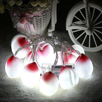 10 Light Battery Box LED Peach Shape Christmas Room Decoration Światło String
