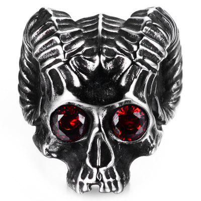 Men Stainless Steel Skull Ring