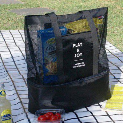 Shoulder Bag Double-layer Picnic Bag