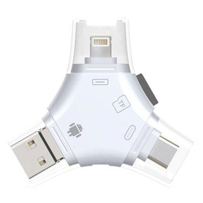 Multifunctional OTG Adapter 3 In 1 Micro Converter SD TF Card Reader Adapter For iPhone iPad Mac Android