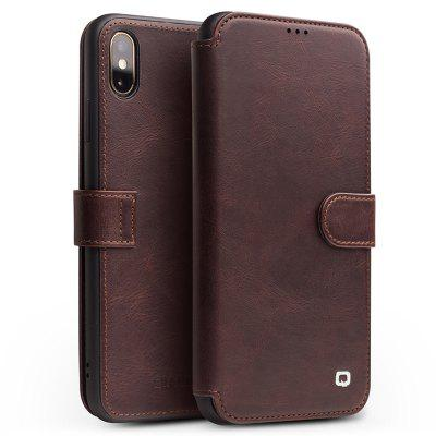 Mobile Phone Shell Case Cover Leather Flip Card Magnetic Buckle Business For iPhone X
