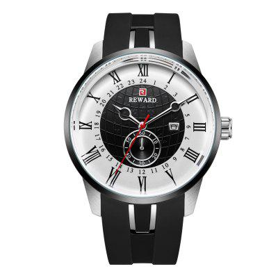Tape Waterproof Quartz Sports Calendar Running Watch
