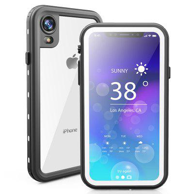Waterproof Anti-fall Dust-proof Snowproof Mobile Phone Case Transparent Back Cover For iPhone XR