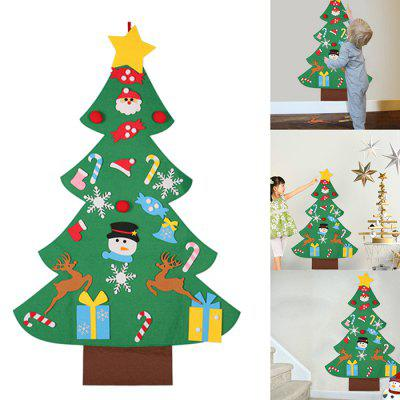 Children's Puzzle DIY Stereo Large Christmas Tree Kit Felt Cloth Assembled Christmas Home Decoration