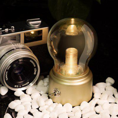 BRELONG Creative Retro USB Rechargeable Bulb Style Night Light for Home