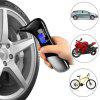 Night-in-one Multifunction Tire Pressure Gauge Car Safety Hammer Car Window Breaker Emergency Tool Set - BLACK