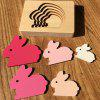 Animal Cartoon 3D Puzzle Multilayer Puzzle Baby Wooden Toys - GRAY CLOUD