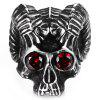 Men Stainless Steel Skull Ring - SILVER
