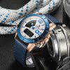 Men's Double Movement Waterproof Belt Electronic Sports Watch - MULTI-A