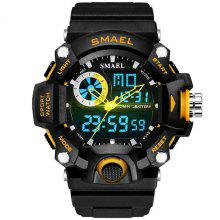 Waterproof Men Led Wristwatch Outdoor Sports Wristwatch Climbing Running Chronograph Alarm Clock 1545 Military Watch Buy One Give One Men's Watches Digital Watches
