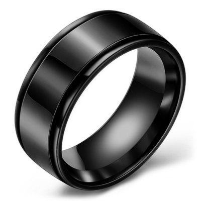Mirrored Two-slot Stainless Steel Ring