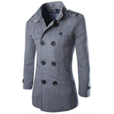 Men Double-breasted Classic Woolen Coat