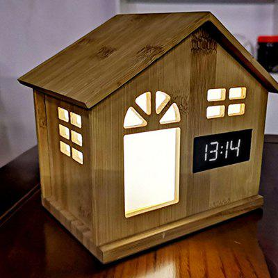 Smart Home Bamboo House Induction Night Light