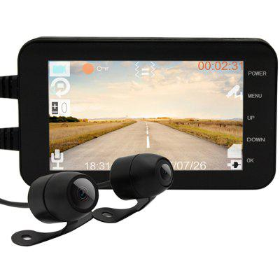 MT003 Full HD Double Recording Camera Loop Video Motorcycle Black Box Image