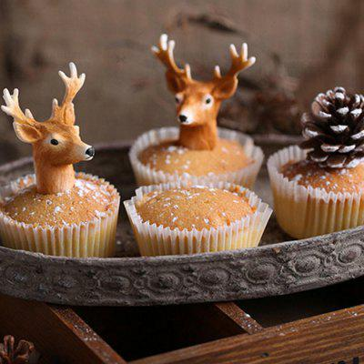 Christmas Party Supplies Christmas Moose Head Silicone Fondant Cake Mould