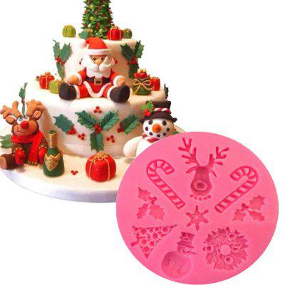 Christmas Party Supplies Elk Christmas Series Wzorzec silikonowy Kremówka Mold