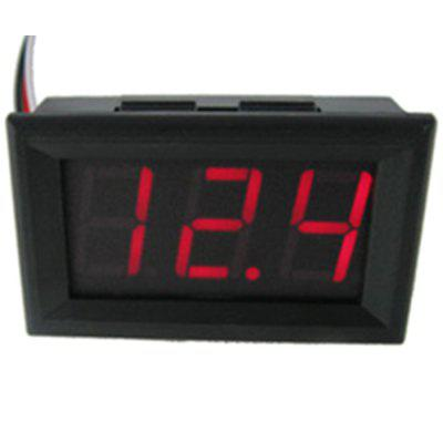 Two-wire DC Voltage Meter 0.56-inch LED Digital Voltmeter DC4.5V-30.0V Reverse Connection Protection