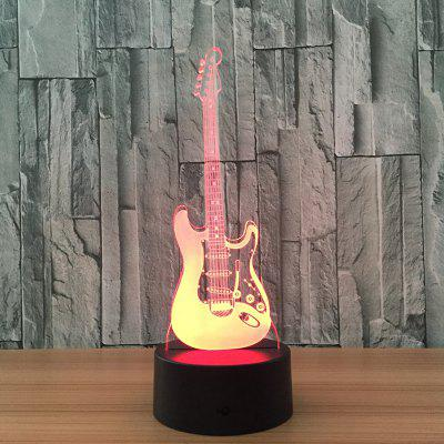 Muziekgitaar Fashion 3D Night Colorful Touch Visual Stereo Light